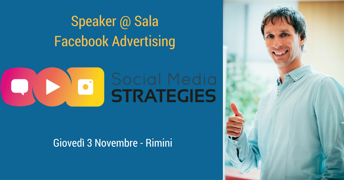 Ci vediamo al Social Media Strategies e al Social Case History Forum