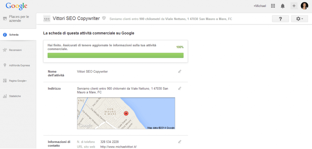 google places local nuovo