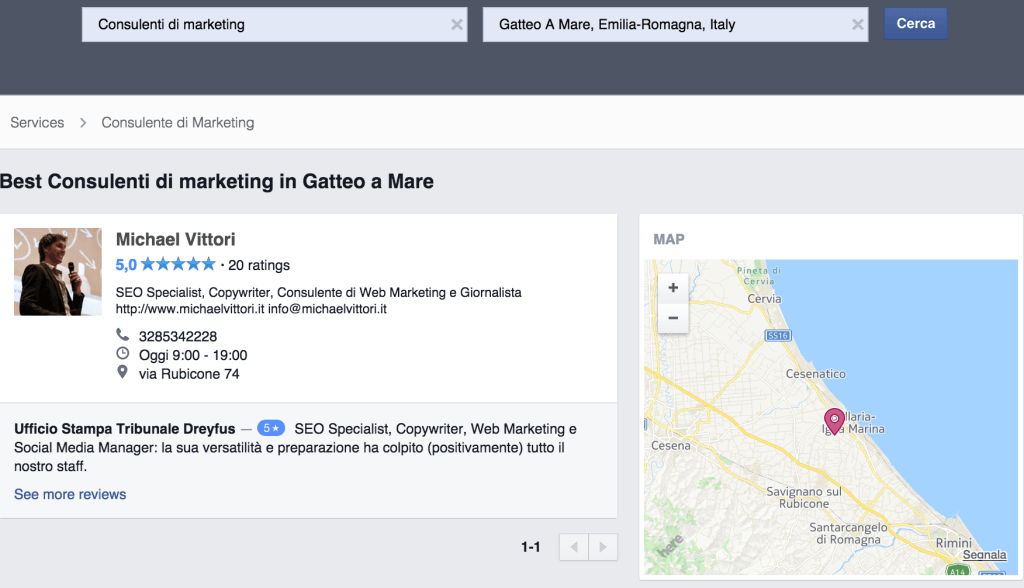 facebook local search