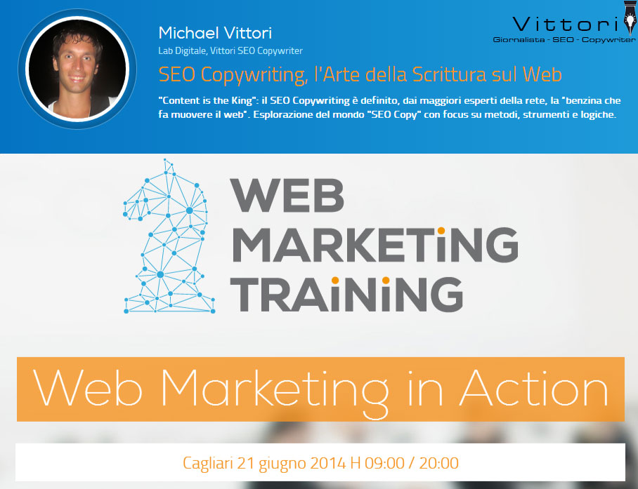 Sarò Relatore al Web Marketing Training 2014