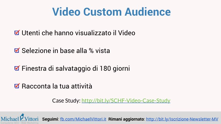 video custom audience