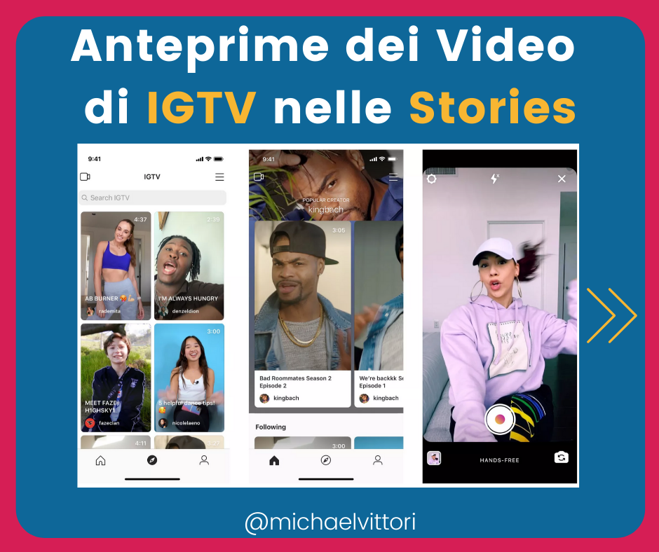 anteprime igtv instagram stories
