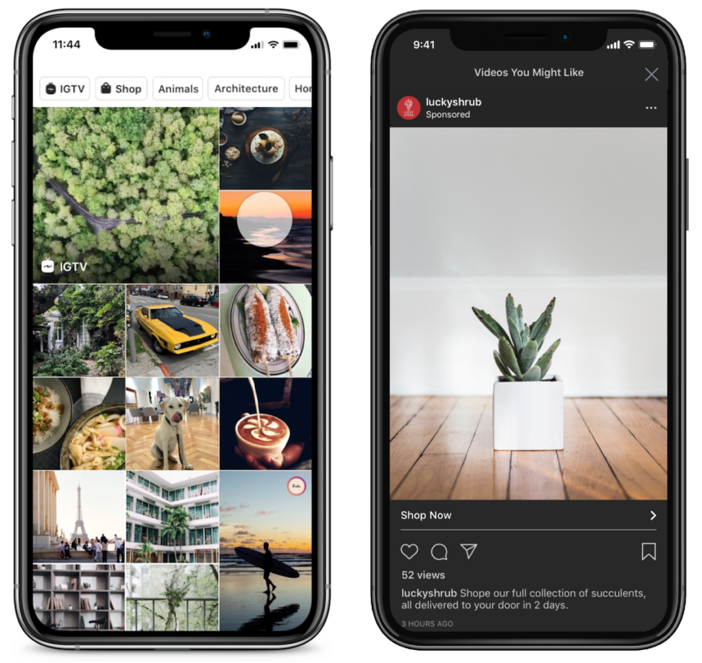 Instagram Ads Explore Tab