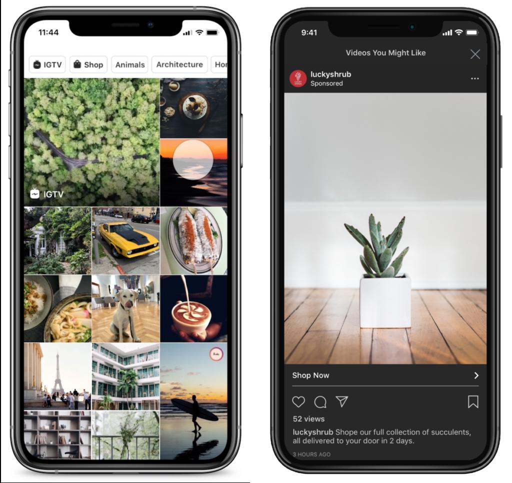 Instagram Ads Explore Tab