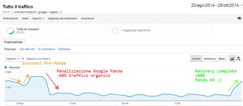 come risolvere penalizzazione da google panda