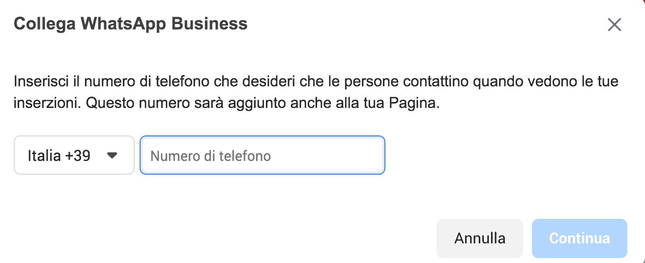 collegare whatsapp business a facebook