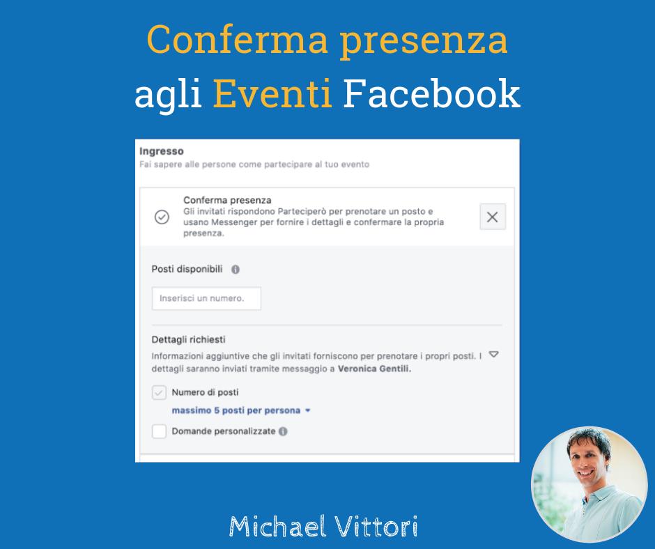 conferma presenza eventi facebook
