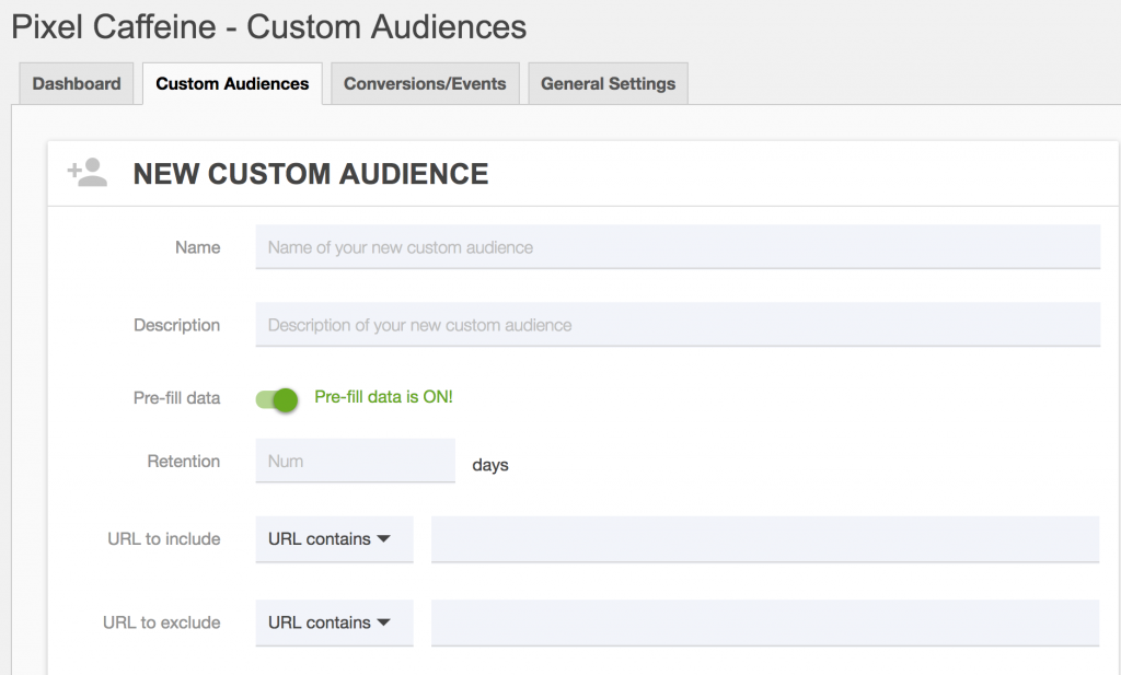 custom audiences-pixel-caffeine plugin pixel facebook
