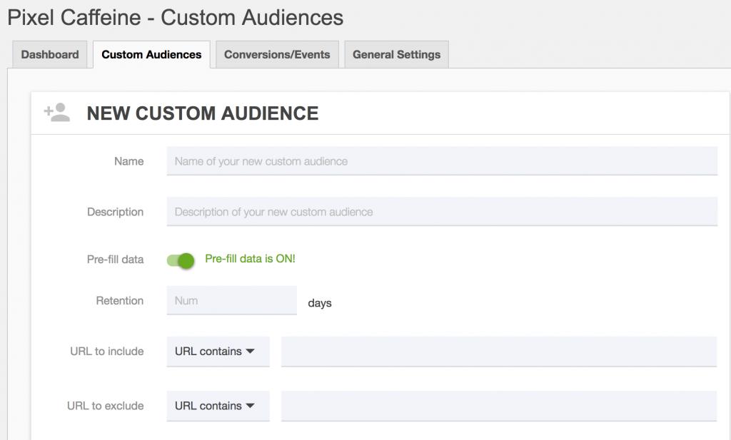 custom audiences-pixel-caffeine plugin pixel facebook