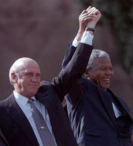 Frederik De Klerk e Mandela