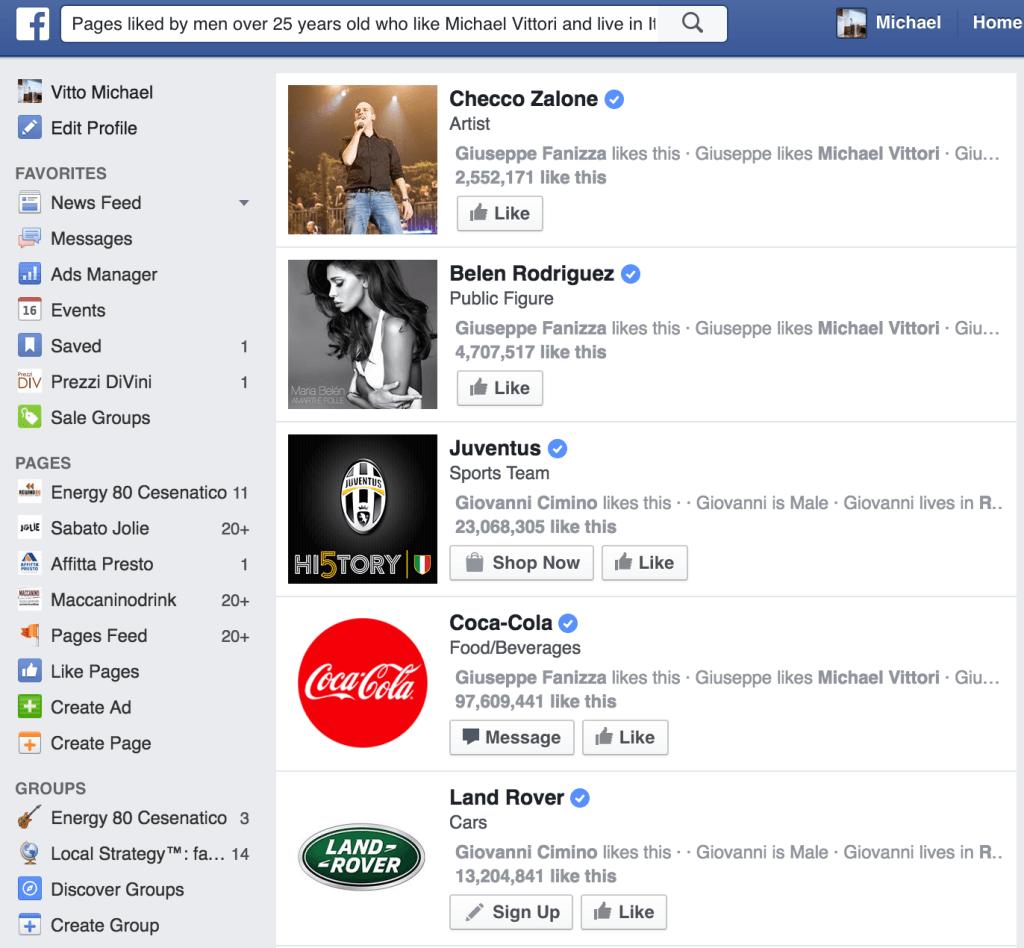 come trovare target pubblico facebook