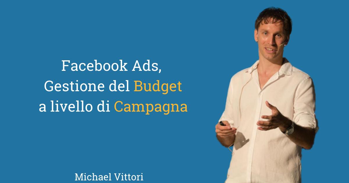 CBO Facebook e Instagram Ads, budget a livello di campagna: che fare?