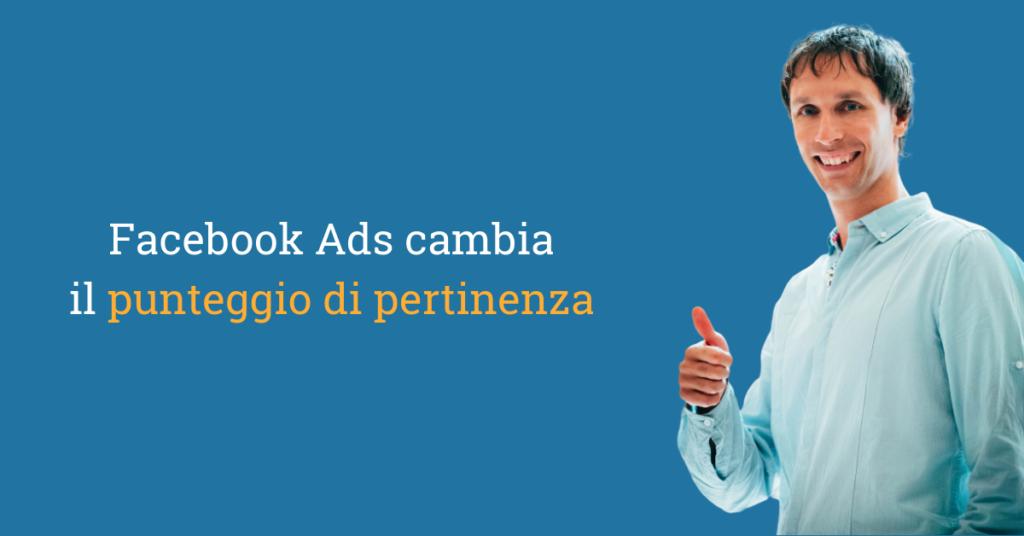 facebook ads punteggio pertinenza