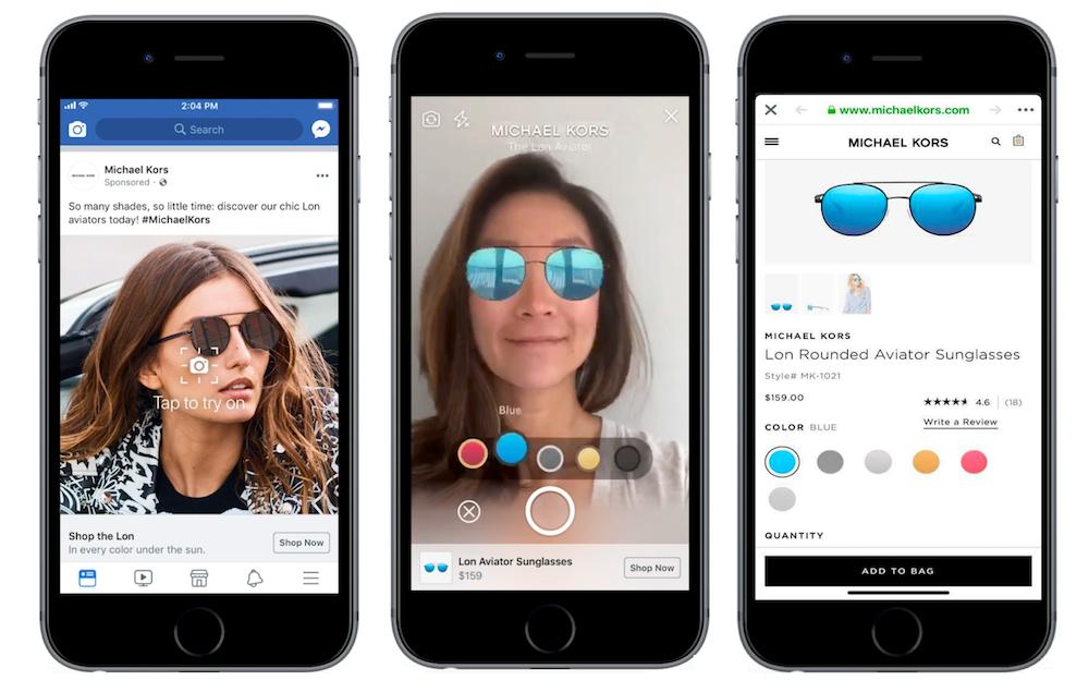 facebook ads realtà aumentata