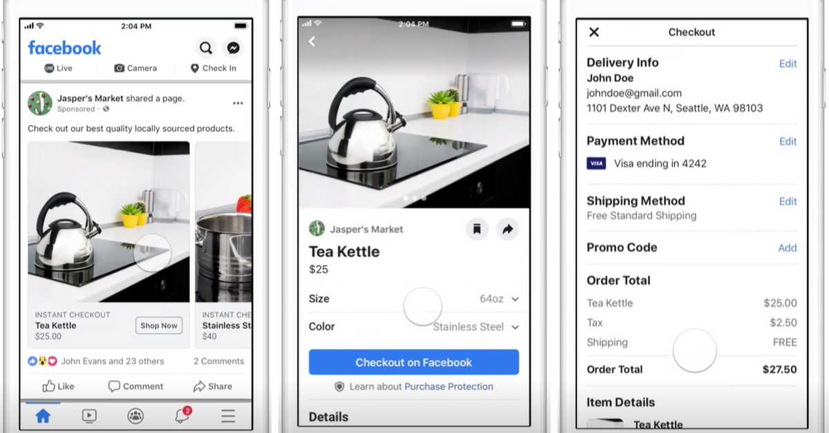 facebook checkout dynamic ads