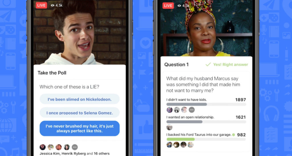 facebook gameshow quiz sondaggi live