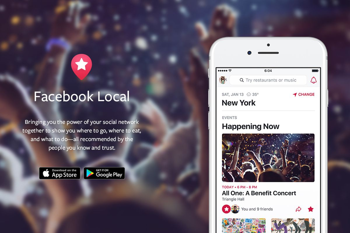 Arriva l'app Facebook Local