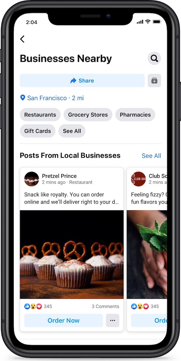 facebook business nearby