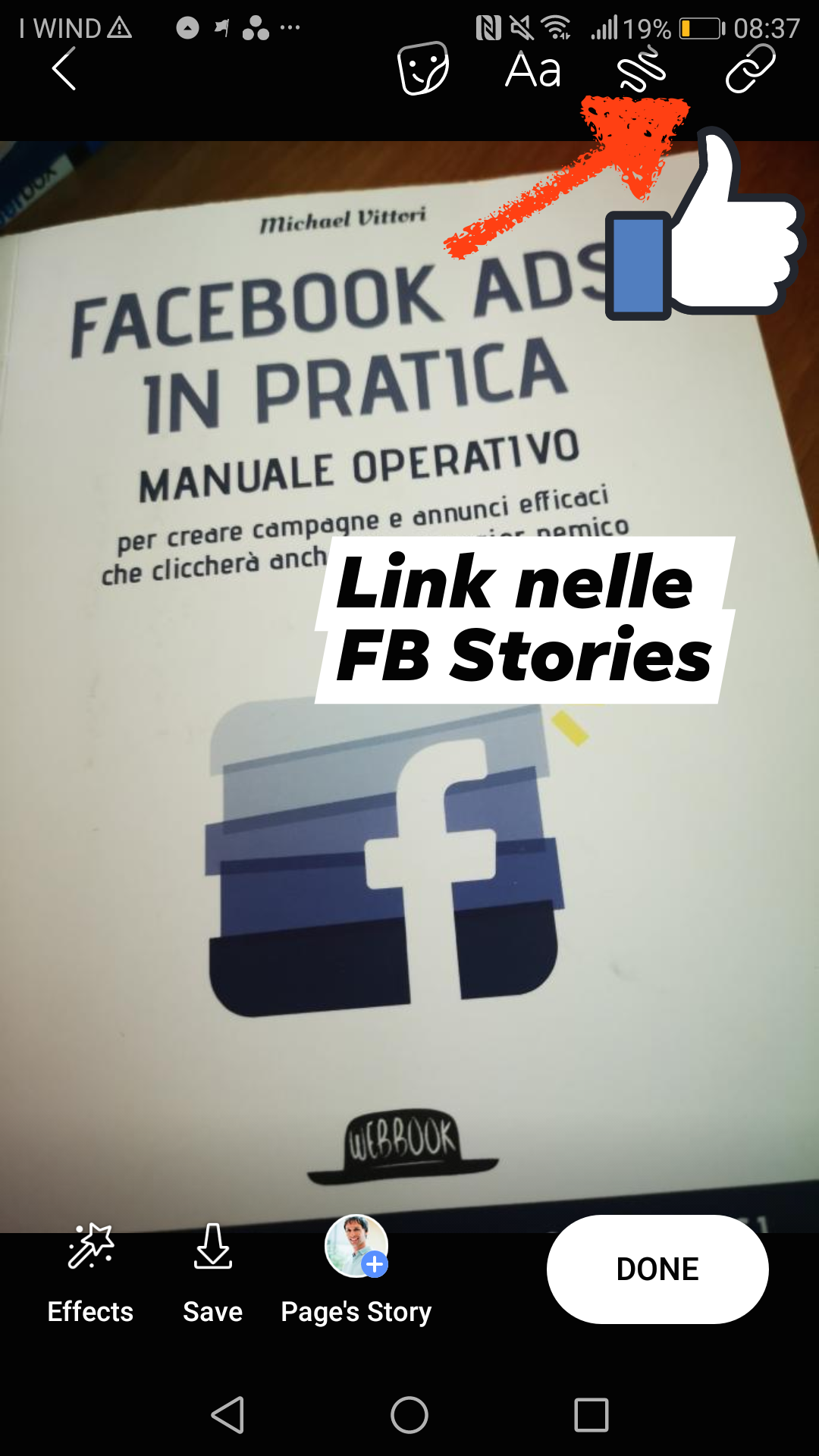 facebook stories link e cta