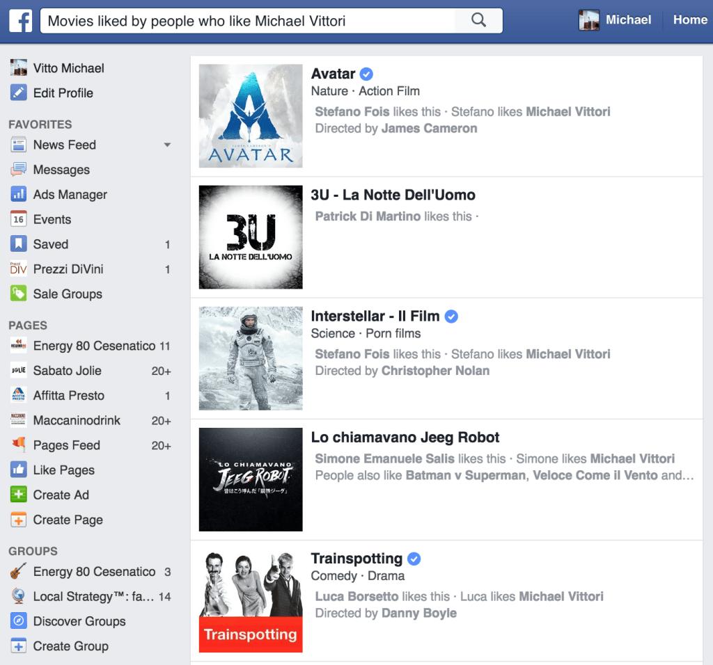 come usare la ricerca di facebook