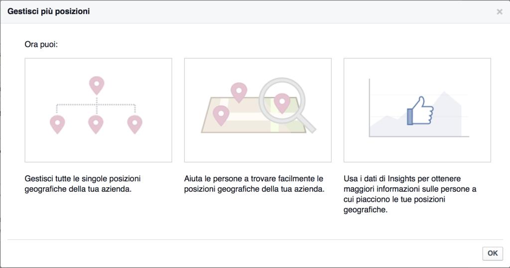 gestione sedi facebook locations