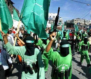 Una manifestazione di Hamas