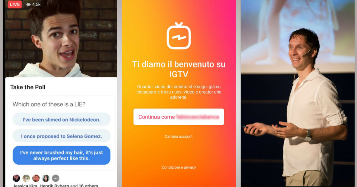 IGTV, Sondaggi e Quiz nei Video e Monetizzazione nei Gruppi Facebook