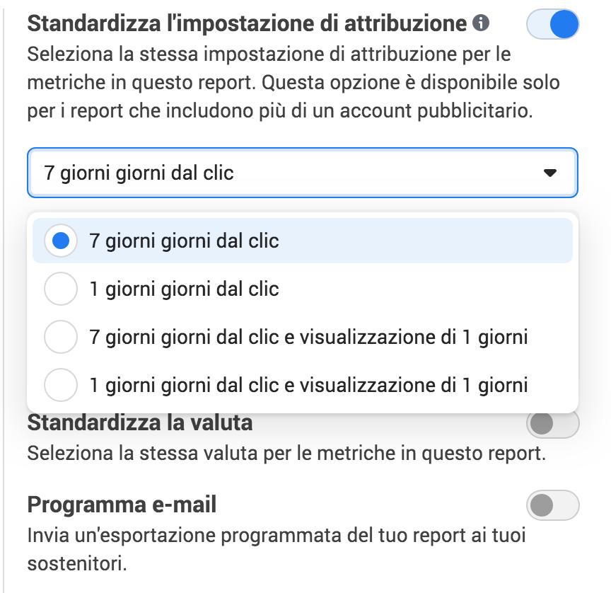 come personalizzare le finestre di conversione e attribuzione su facebook ads