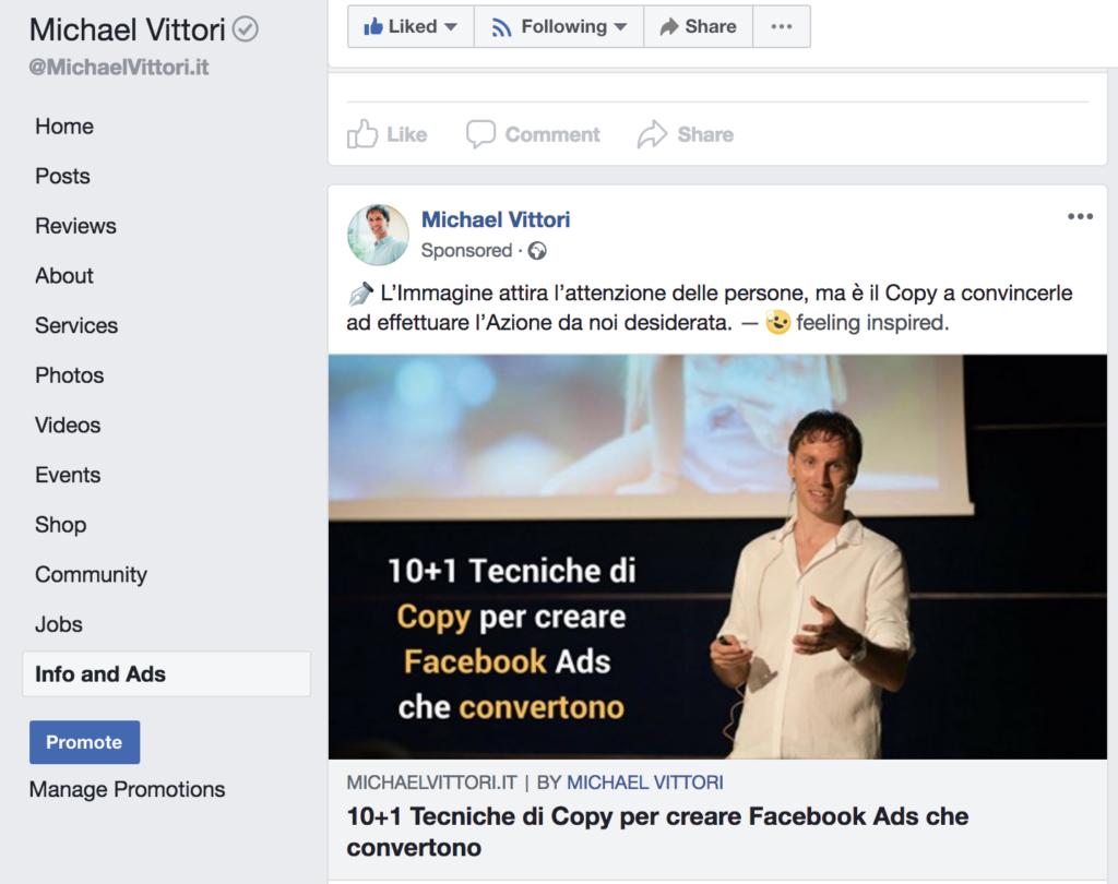 inserzioni attive facebook ads