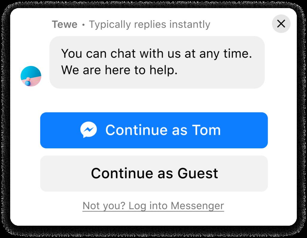 messenger chat modalità ospite
