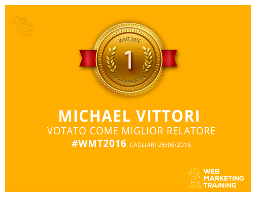 michael vittori miglior relatore wmt 2016