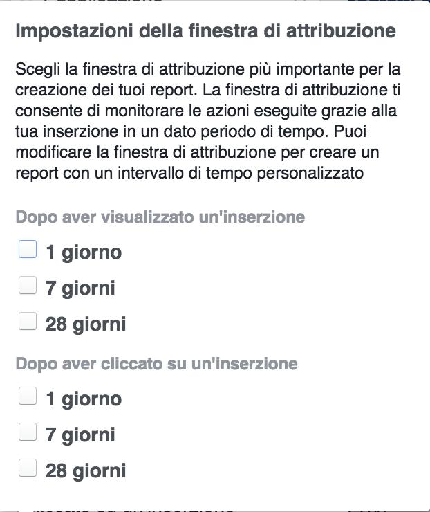 modelli attribuzione facebook