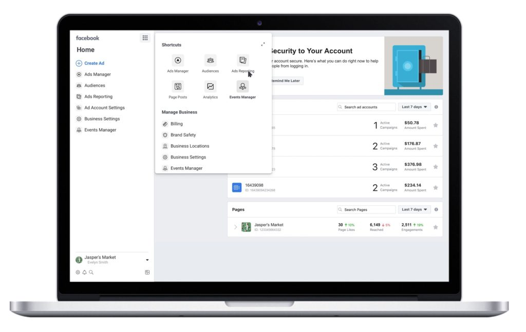 nuovo facebook business manager 2019