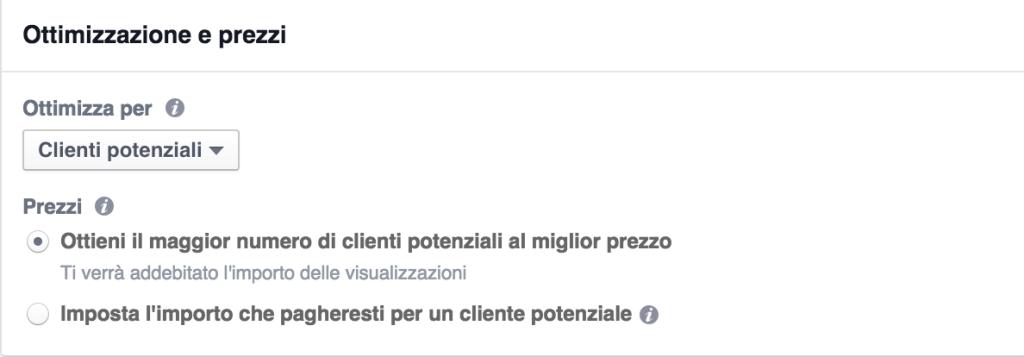 ottimizzazione annunci facebook