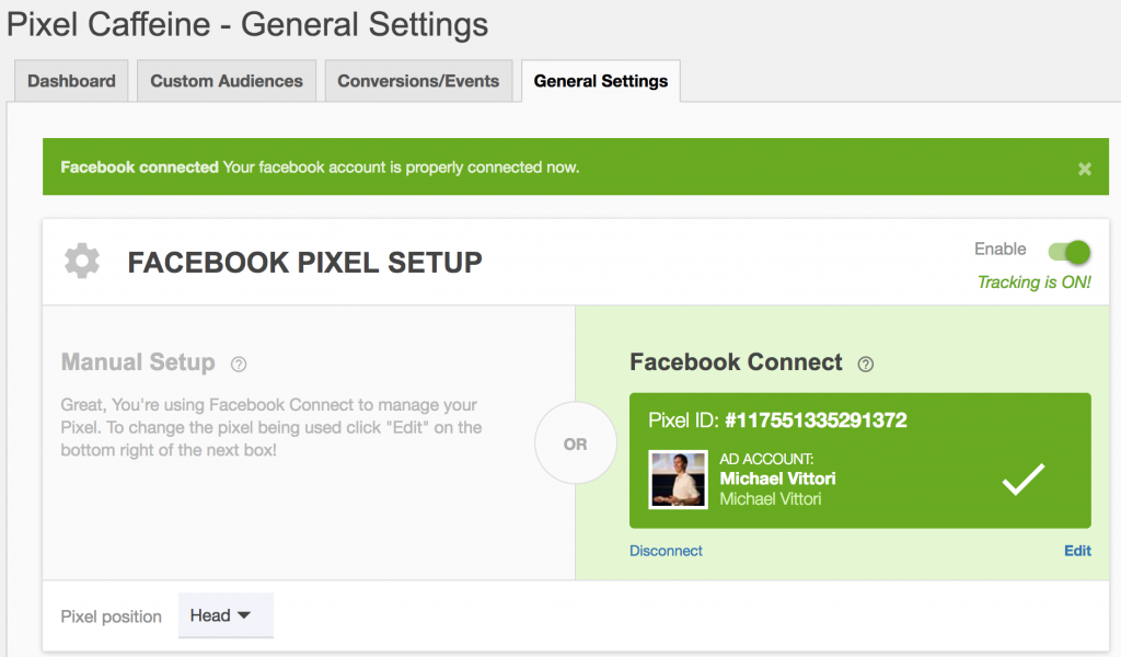 pixel caffeine plugin pixel facebook