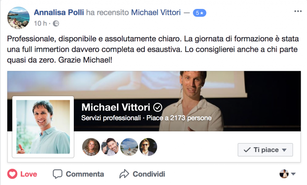 feedback corso facebook advertising pubblicità