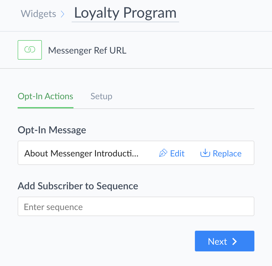 referral url messenger