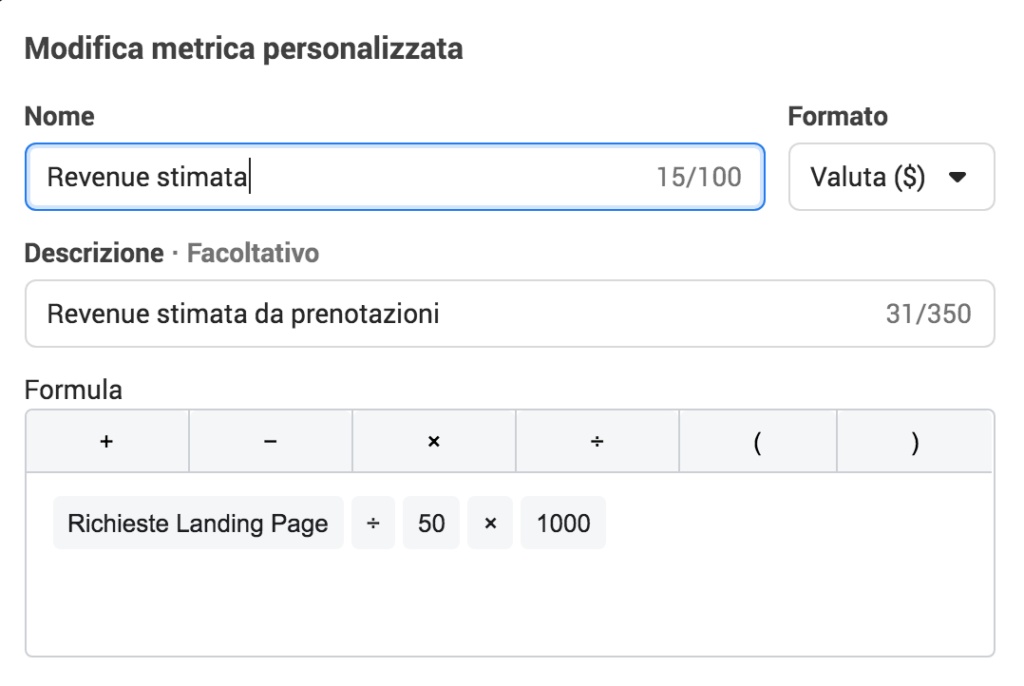 revenue stimata lead generation facebook instagram ads