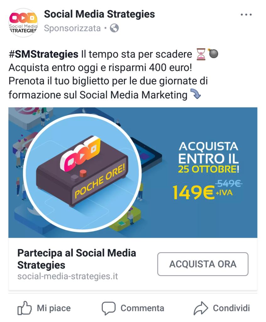 scarsity urgency persuasione annunci facebook