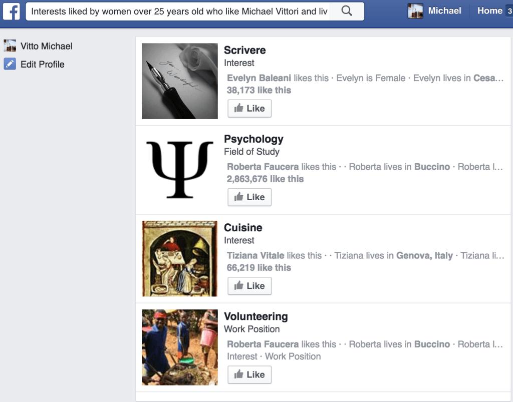 targetizzazione avanzata con ricerca facebook
