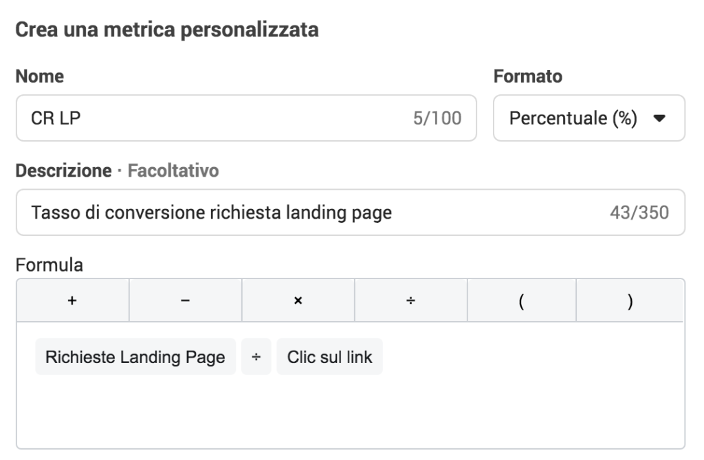 tasso di conversione lead facebook ads