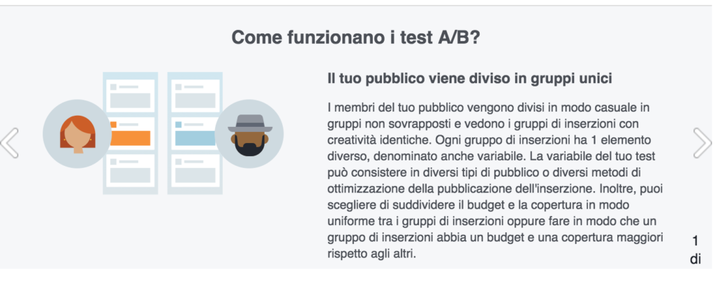test ab campagne pubblicitarie facebook