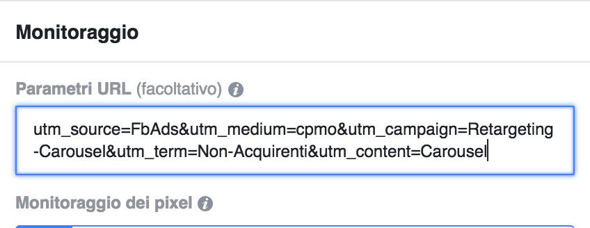 tracciamento conversioni facebook ads