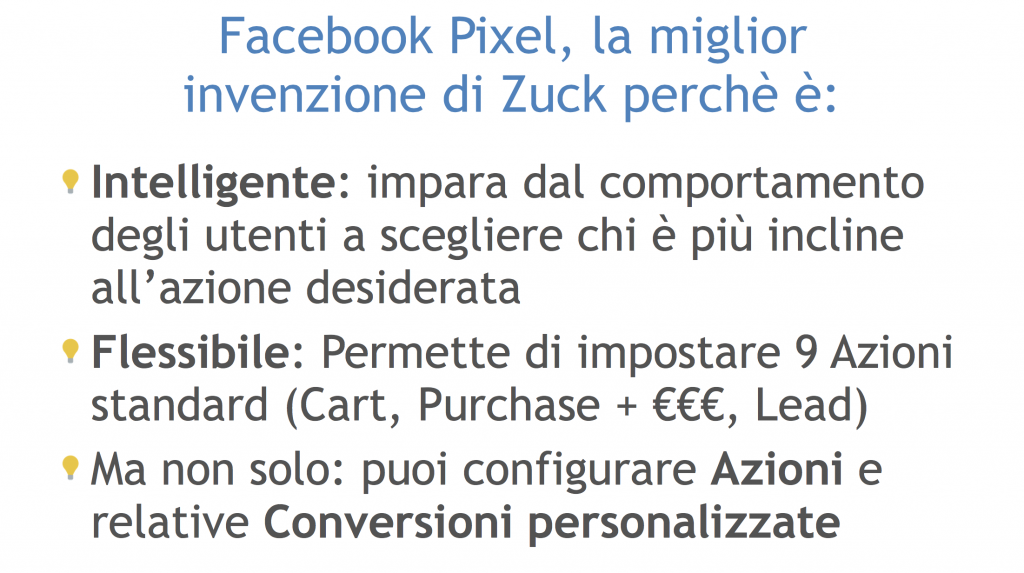 vantaggi pixel facebook